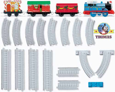 TrackMaster train set wonderful Fisher Price Thomas & friends winter wonderland railway scenery
