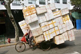 Bicicleta com excesso carga