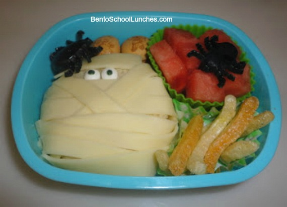 Halloween Mummy Yummy bento lunch
