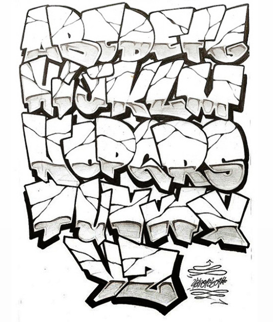 GRAFFITI ALPHABET NEW GENERATION: GRAFFITI LETTERS COOL DESIGN