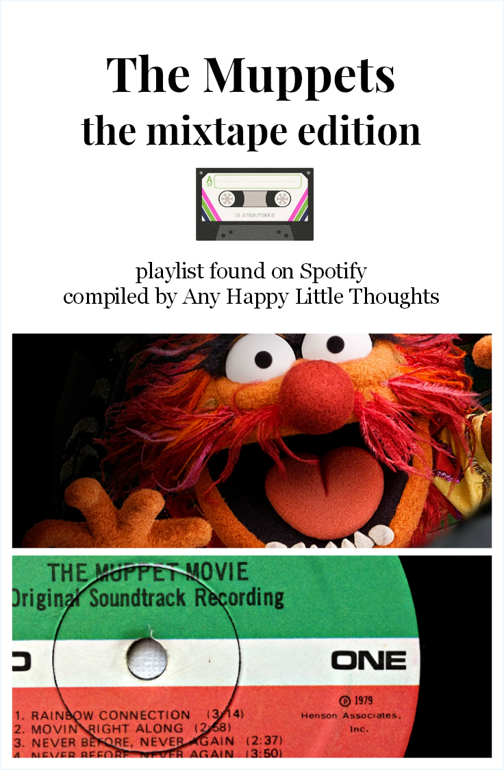 playlist on Spotfiy with songs relating to The Muppets - Disney inspired memory keeping | www.anyhappylittlethoughts.com