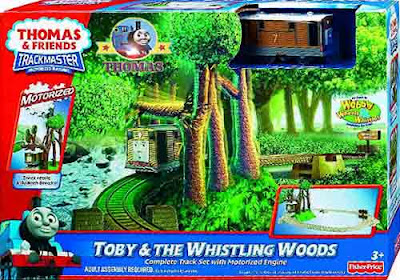 Fun Childrens railway Fisher Price toy train set Thomas & friends Toby's whistling Woods Ride