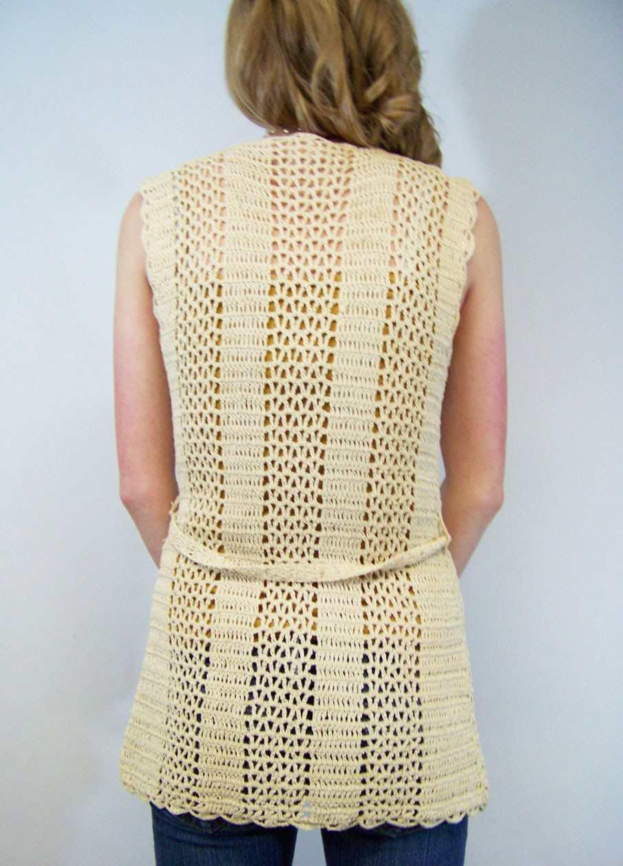BeBe Gray Crochet Vest