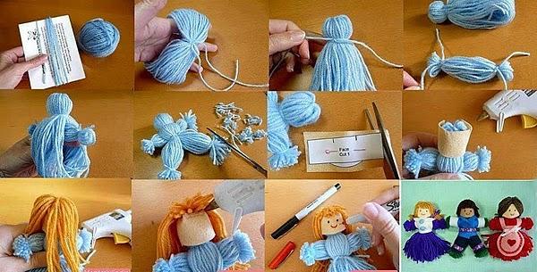 passo à passo bonequinhas de lã