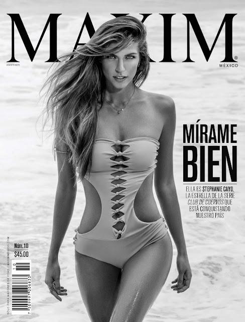 Stephanie Cayo Revista Maxim México Agosto 2015 + PDF 0