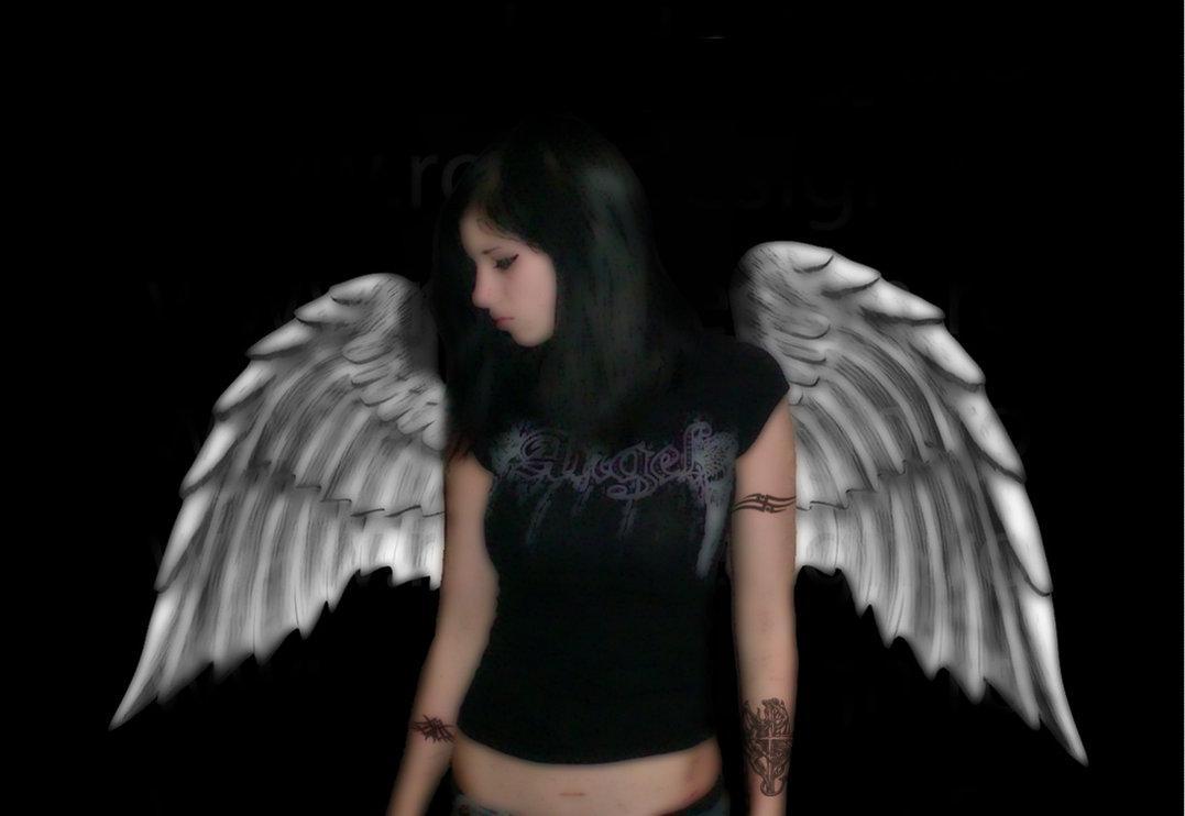Emo boy and girls emo angel wallpaper - Angel girl wallpaper ...