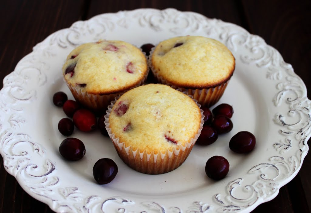Recipes} Lemon Cranberry Muffins - Mirabelle Creations