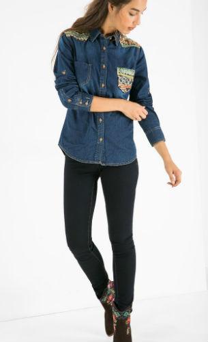 camisa vaquera Exotic Jeans Desigual