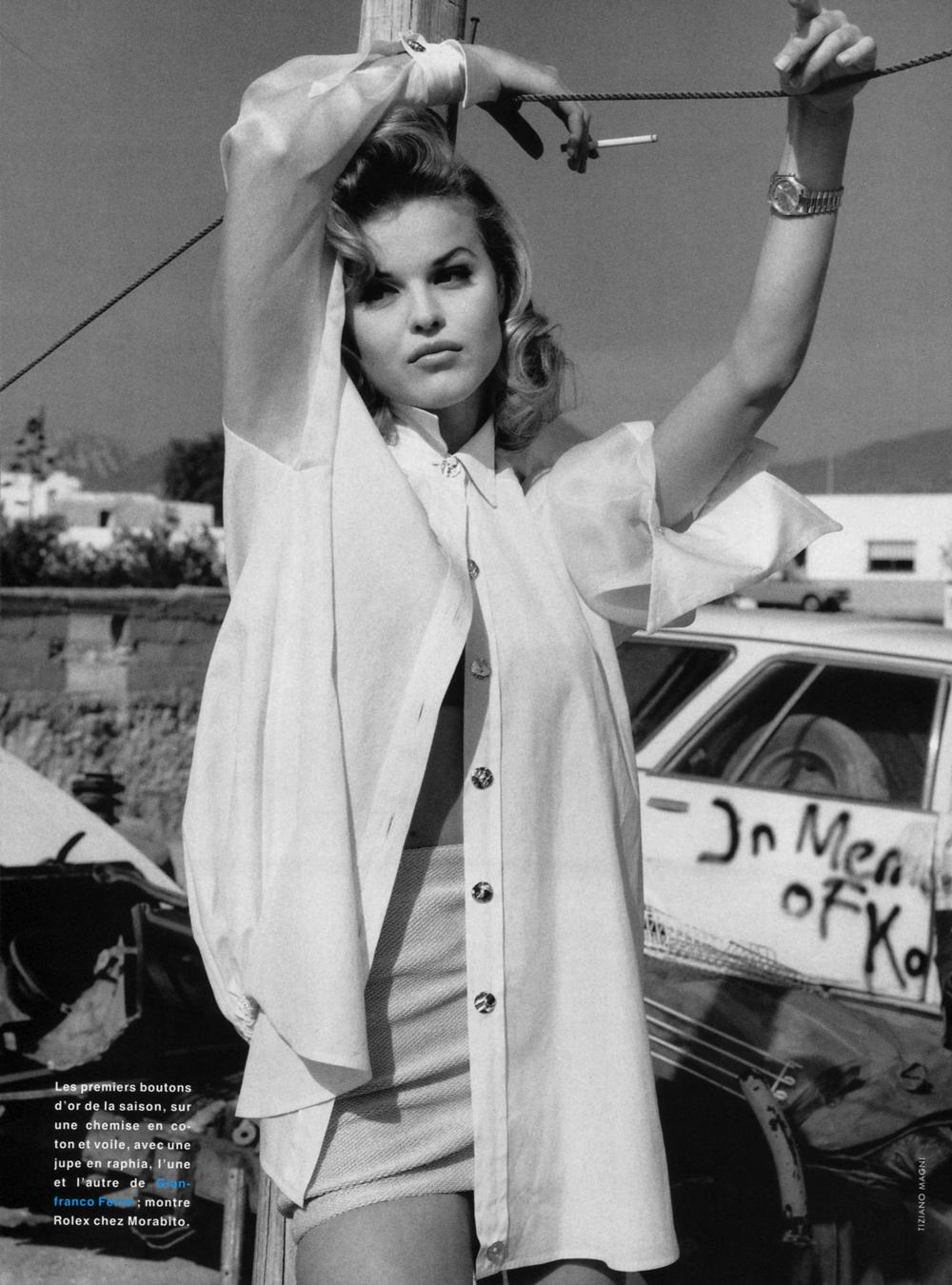 Glamour France April 1992 (photography: Tiziano Magni, styling: Carine Roitfeld (?)) via fashioned by love british fashion blog