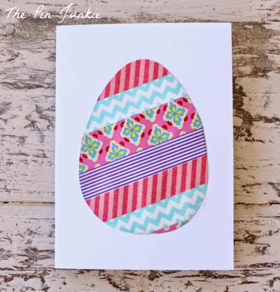 washi tape easter egg card diy
