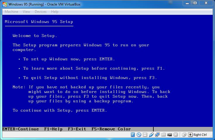 Программа установки windows 95