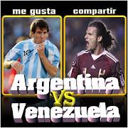 Imágen de Argentina vs Venezuela que juegan un partido este viernes por las . argentina venezuelax