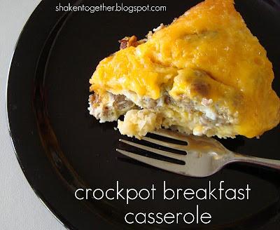 Breakfast easy crock pot recipes for Crockpot breakfast casserole recipes