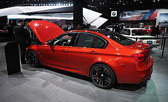 2016 NAIAS: BMW M3 in Sakhir Orange with M Performance Parts