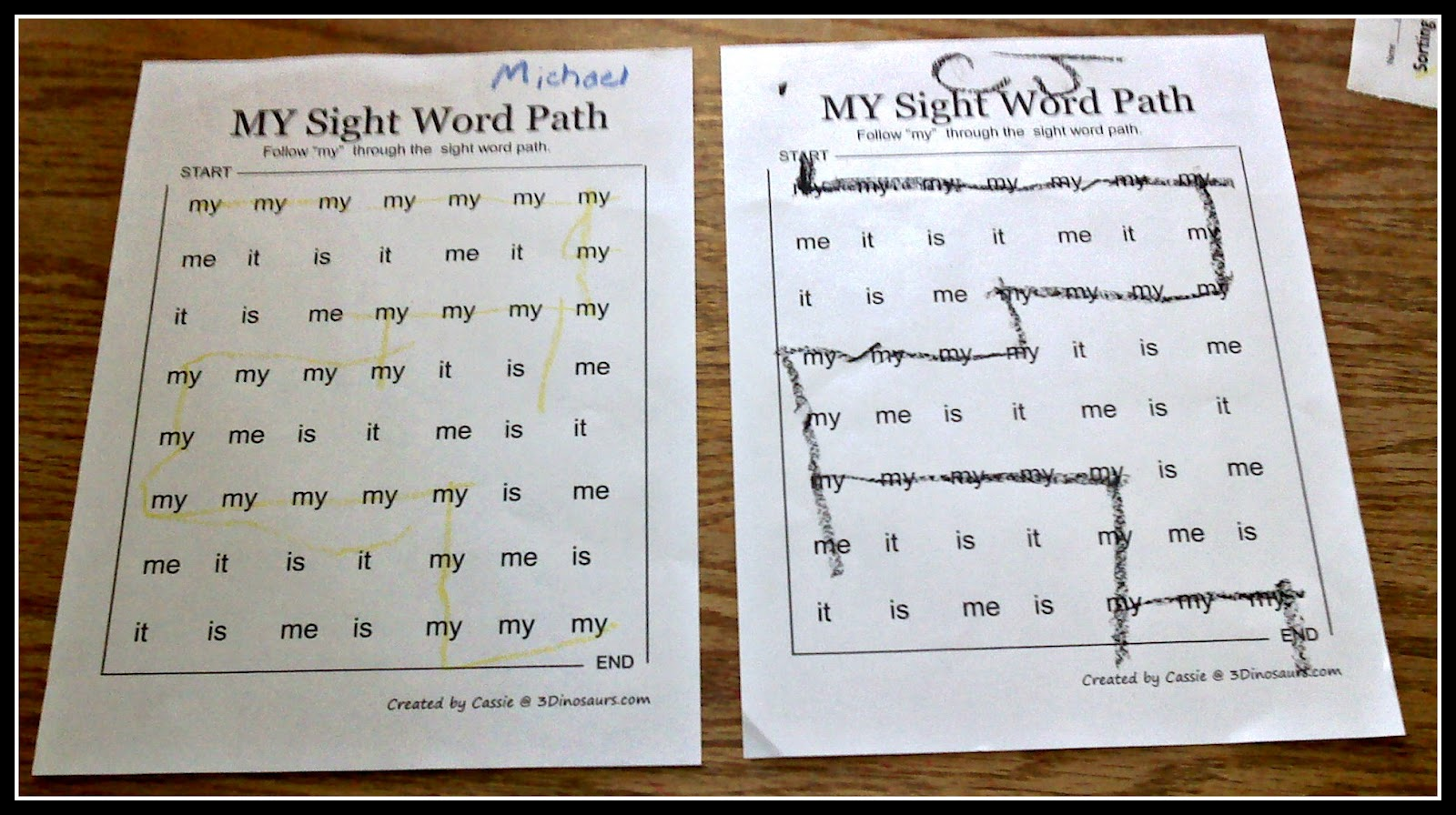 The  Busted sight word  Acre Walnut worksheets Heater, printable  Walnut Acre: Water The  Broken  Daily free