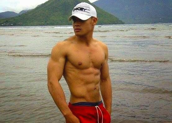 polisi briptu haryano shirtless hot body muscle