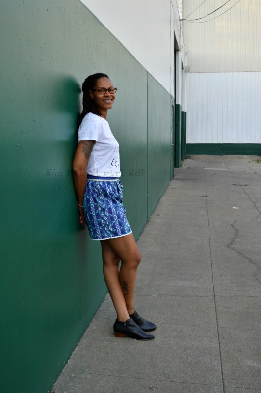 high waist skirt {who is that girl Mo?}