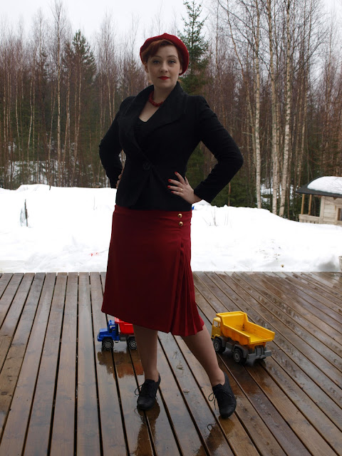 vintage 50's 30's skirt Evil Dressmaker