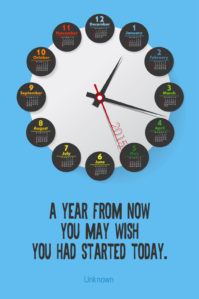 visual quote - image quotation for PROCRASTINATION - A year from now you may wish you had started today. - Unknown