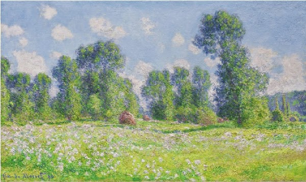Claude Monet Effet de printemps à Giverny. 1890