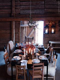 decoracion mesa granero