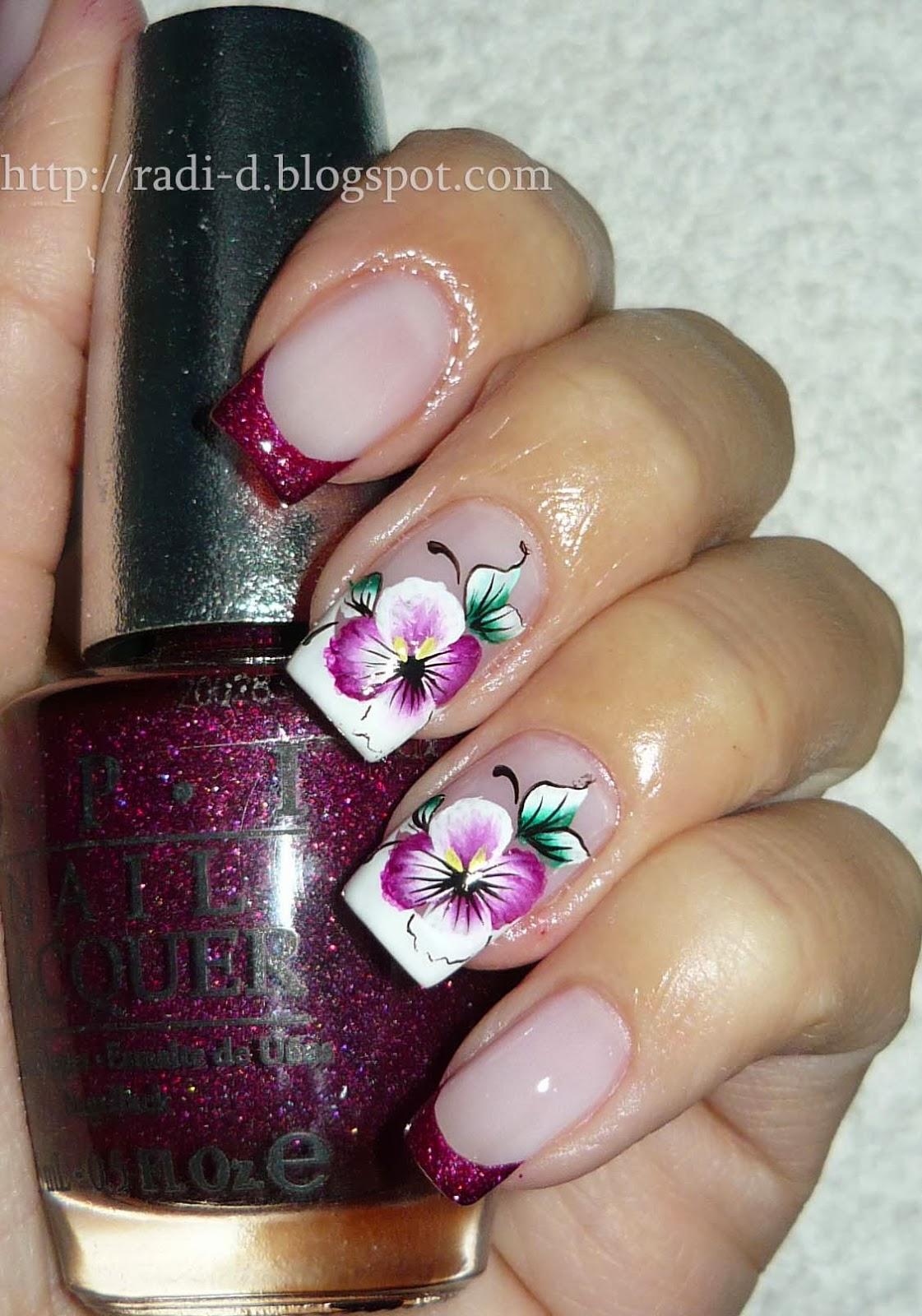 Маникюр фото ногтей с орхидеей
