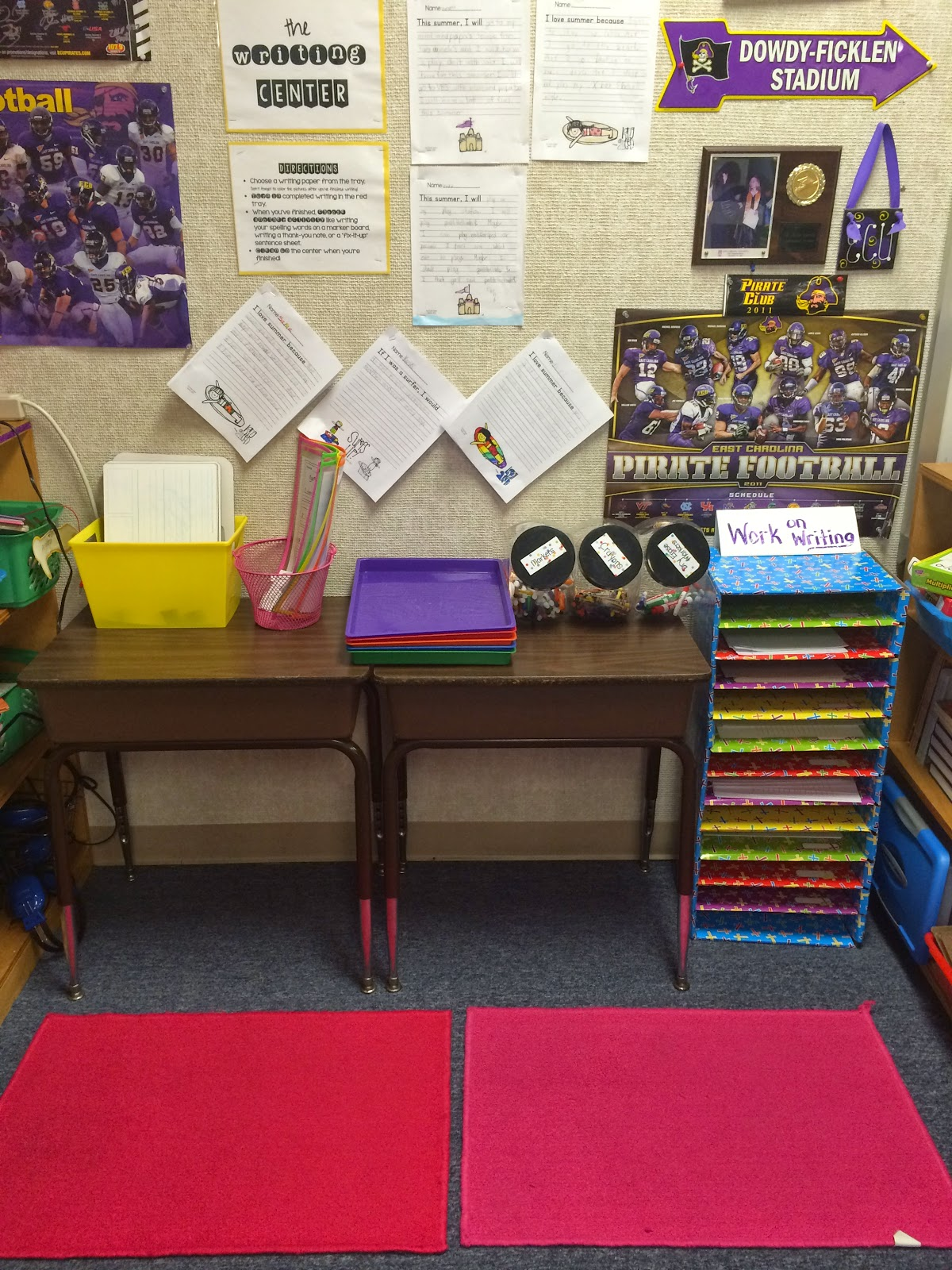 Elementary Classrooms Writing ~ The pirate queen teacher a classroom writing center