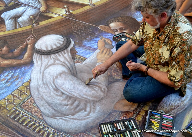 Kurt Wenner at Dubai Canvas