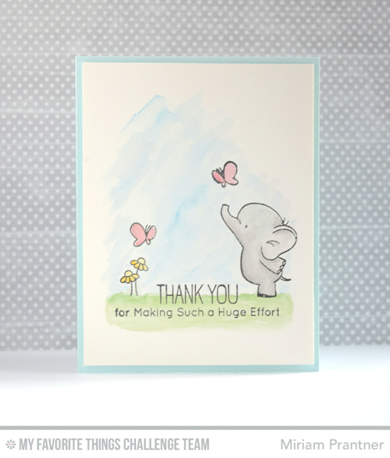 Huge Effort Card by Miriam Pranter featuring the Birdie Brown Adorable Elephants stamp set  #mftstamps
