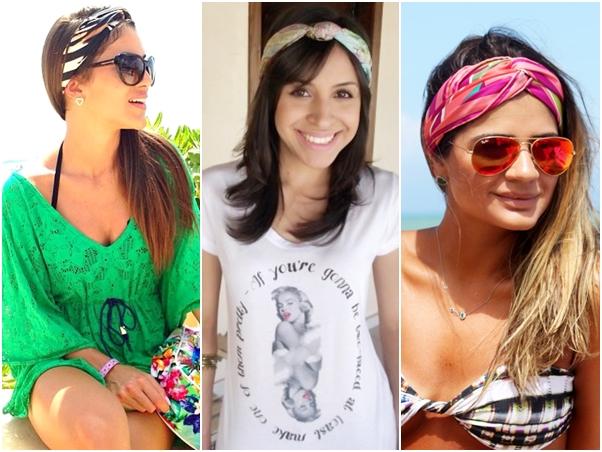 Jeitos Amarrar Lenço Cabeça Blogueira Camila Coelho Carol Alcântara Thássia Naves