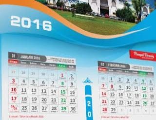 Kalender 2016 Masehi