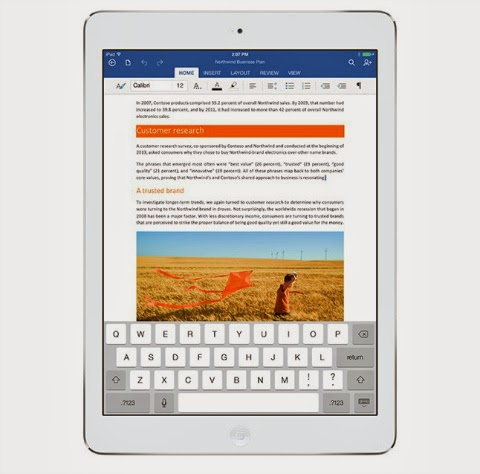 Microsoft Office for Apple iPad is now available to download