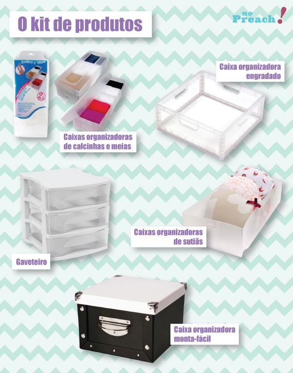 sorteio kit de caixas organizadoras para casa - Conforto Online