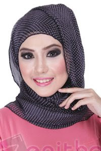 Zenitha Jilbab 03 - Hitam (Toko Jilbab dan Busana Muslimah Terbaru)