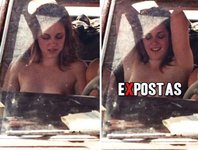 "Kristen Stewart: topless em 'On the Road' (Br:""Na Estrada"")"