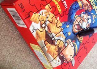 cara Bikin sendiri Puzzle gambar dari kardus