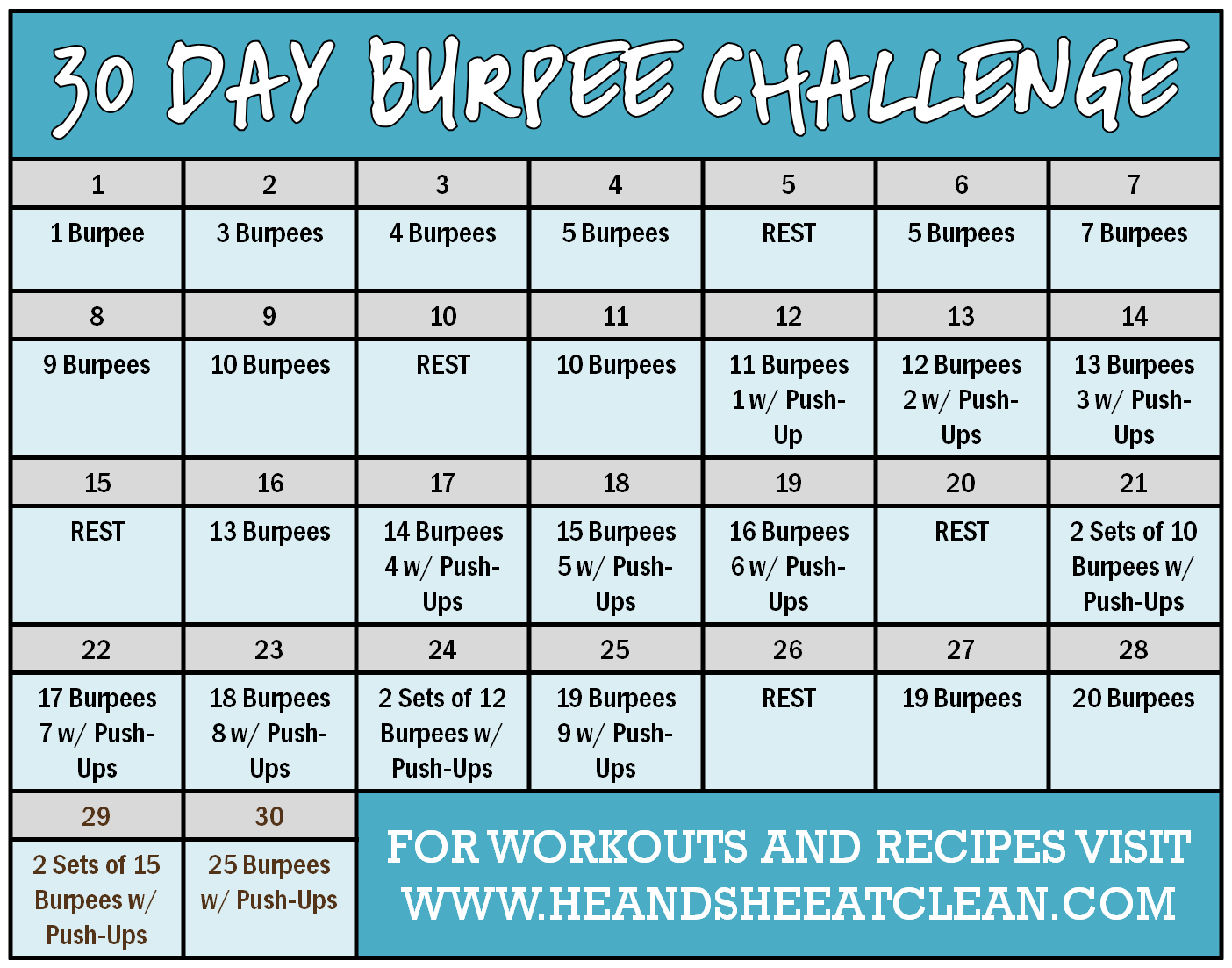 Calendar Challenge : The gallery for gt push up challenge men day