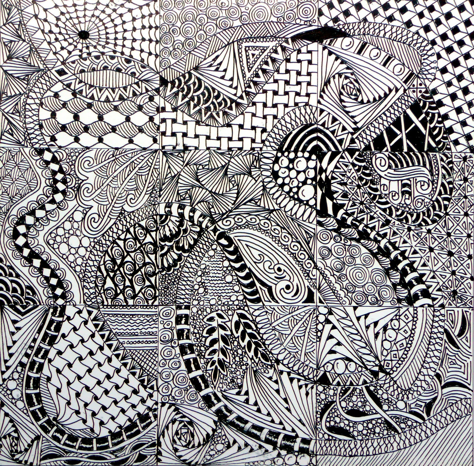 The Lenkerville Art Room Monday Motivations Zentangles
