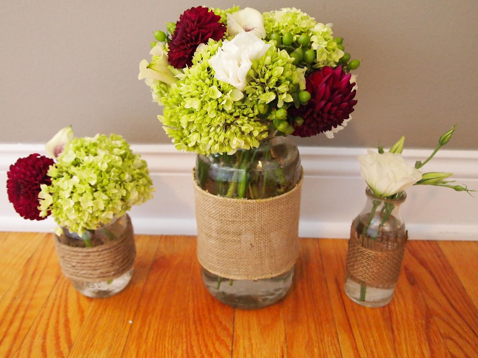 Ever ours events purple green floral arrangements - Arreglo de flores naturales ...