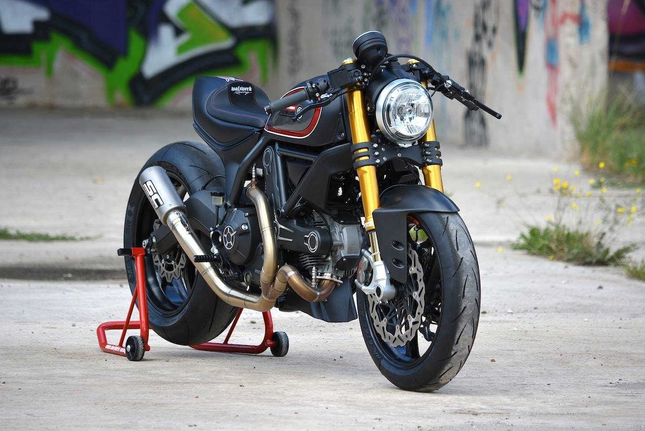 racing caf ducati scrambler by walzwerk racing. Black Bedroom Furniture Sets. Home Design Ideas