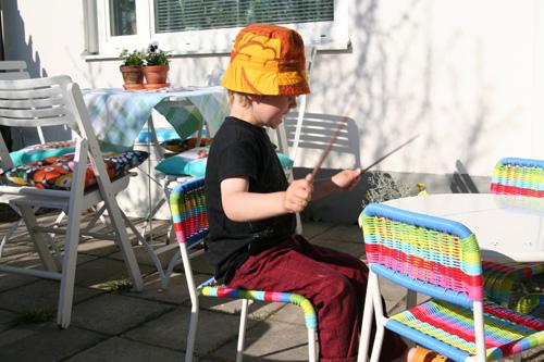 trummor i trädgården