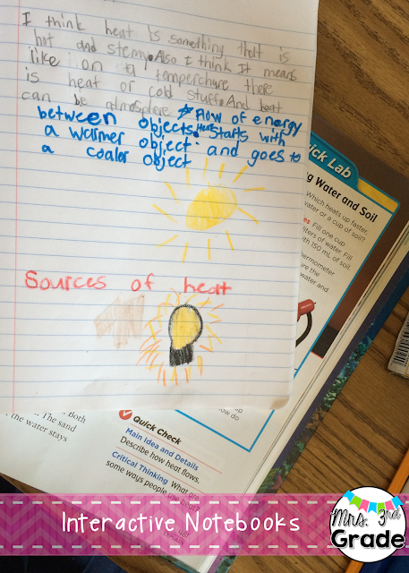 Interactive notebooks for science and social studies