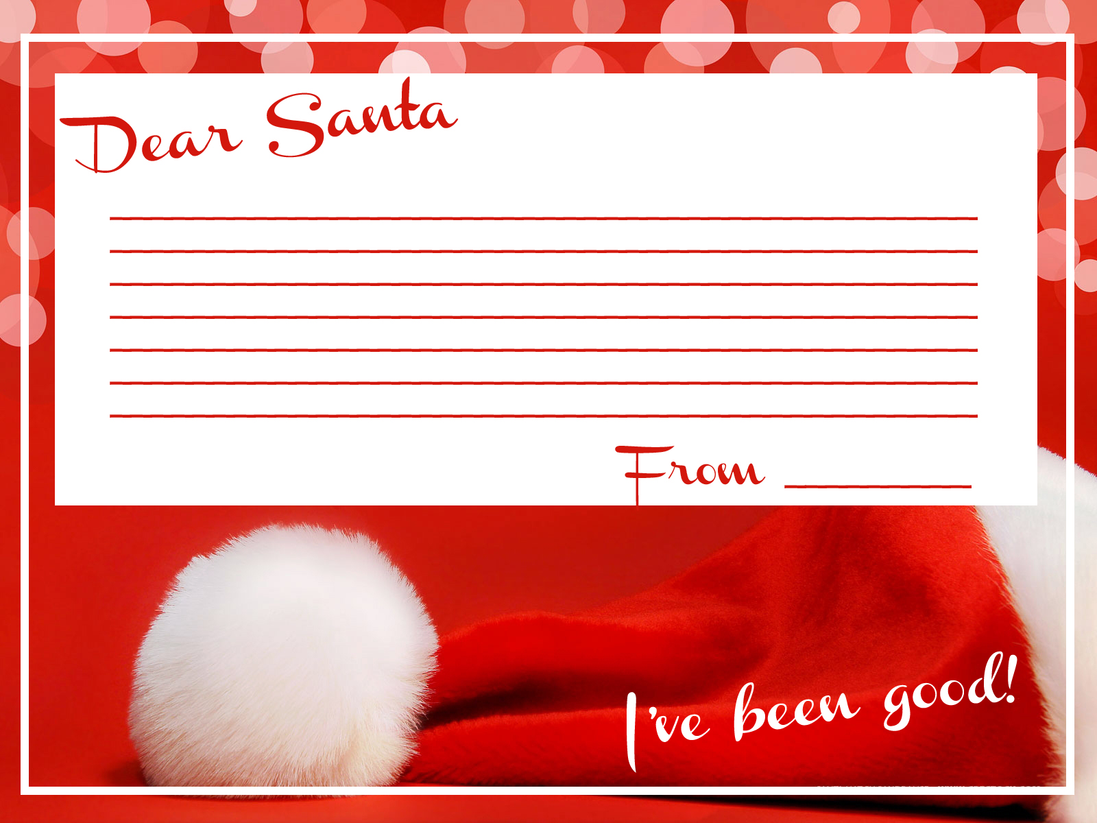 dear santa letter stationery for those of you wanting to send santa ...