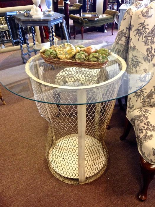 French metal basket at The Pickled Hutch