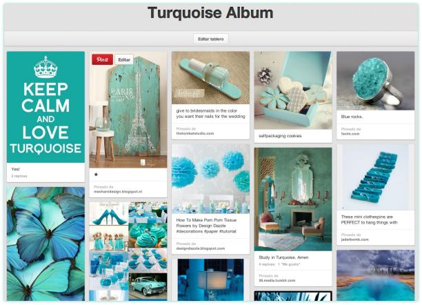 Tablero: Turquoise Album