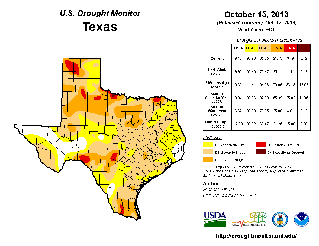 according to the latest drought map 90 of the state is still experiencing drought conditions with almost 22 in the severe to exceptional categories