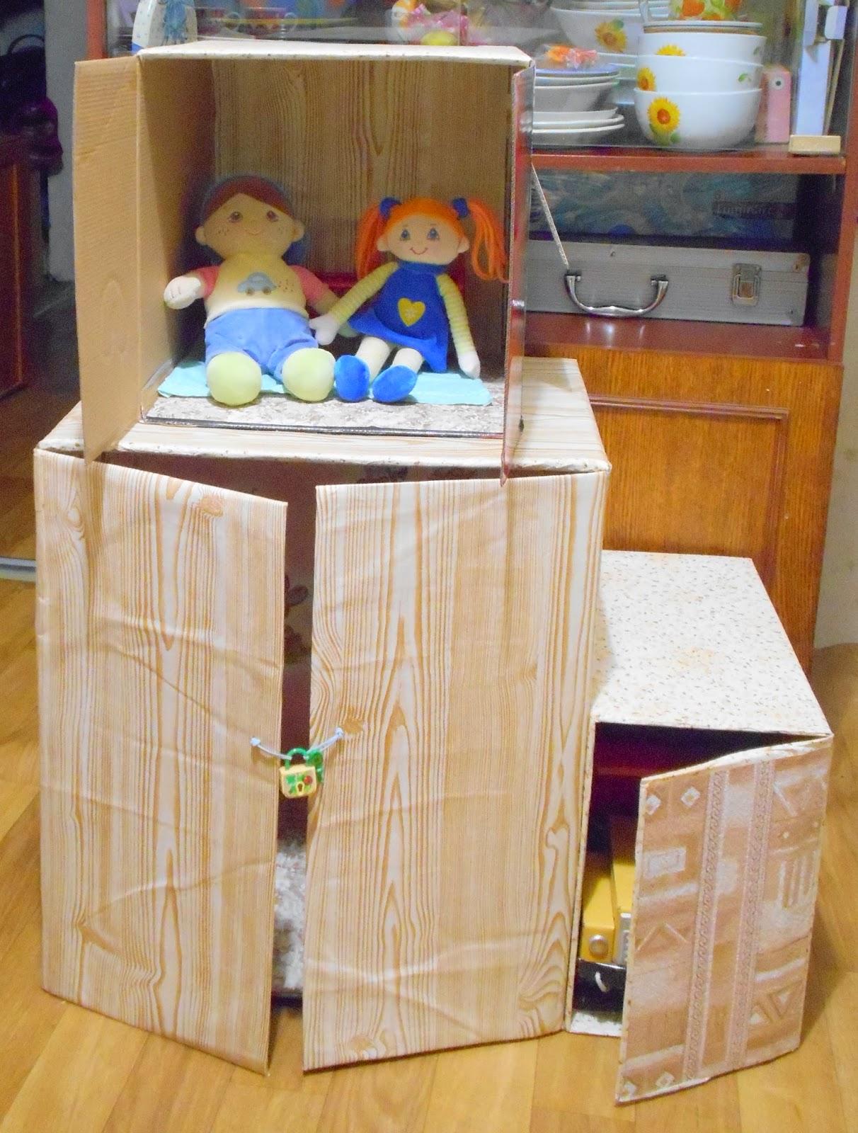 Домик для кукол из киндера сюрприза. Миниатюра 21