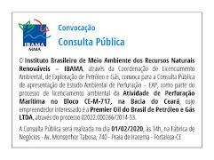 Convocação Consulta Pública / Fortaleza