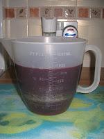 strained fresh raspberry juice