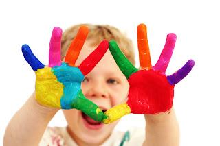 finger painting  Mengharmoniskan Isi dan Metode Belajar Cerdas